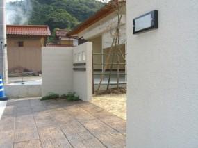 MATスタンプでゆったりとしたアプローチのあるお庭 湯梨浜町2