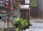 御影石を使用したアプローチ 琴浦町 K様邸