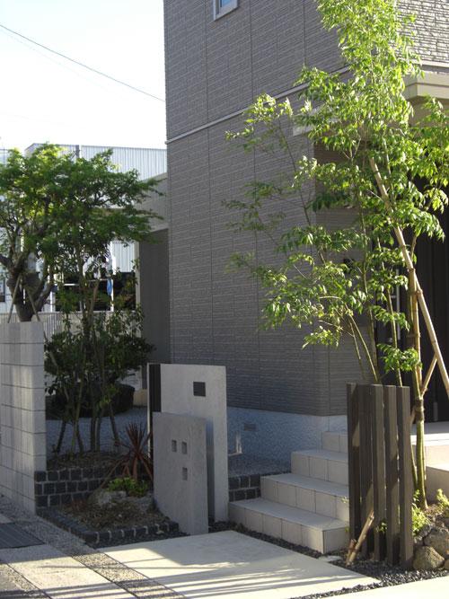 シャープでモダンな印象の外構 倉吉市 Y様邸1