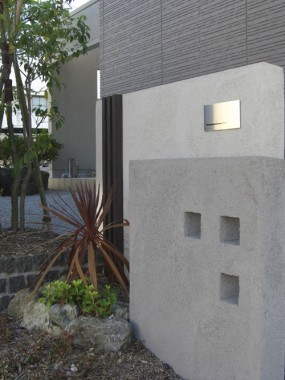 シャープでモダンな印象の外構 倉吉市 Y様邸2