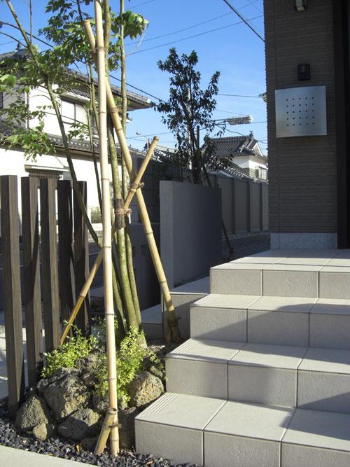 シャープでモダンな印象の外構 倉吉市 Y様邸4