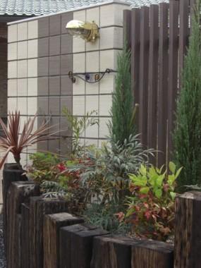 MATスタンプ舗装を施したフロントガーデン 鳥取市 Y様邸2
