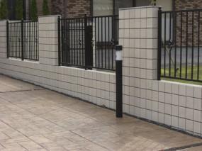 MATスタンプ舗装を施したフロントガーデン 鳥取市 Y様邸3
