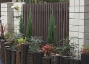 MATスタンプ舗装を施したフロントガーデン 鳥取市 Y様邸
