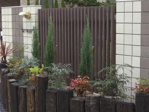 MATスタンプ舗装を施したフロントガーデン 鳥取市 Y様邸1