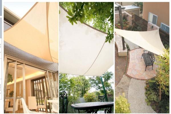 庭でのくつろぎのひとときに、屋根となって日差しから守ってくれるシェードガーデン1