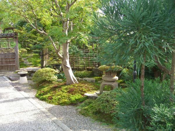 池のある本格的な個人庭園1