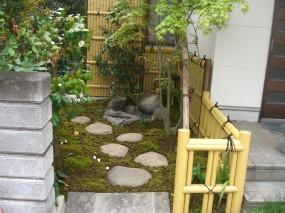 竹垣で和の雰囲気を演出 北栄町 F様邸3