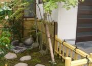 竹垣で和の雰囲気を演出 北栄町 F様邸