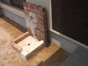 モルタル造形 門柱&立水栓3