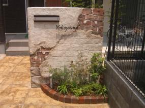 モルタル造形 門柱&立水栓2