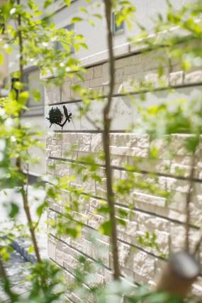石と植栽のやわらかい雰囲気あふれるファサード 倉吉市10
