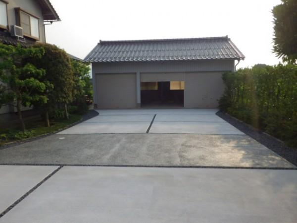 すっきりとしたアプローチ 倉吉市 Y様邸4